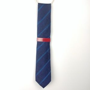 Alfani Men's Blue Linda Stripe Slim Tie